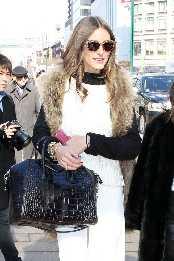 Olivia Palermo heads out around Lincoln Center for Mercedes-Benz Fashion Week in New York City