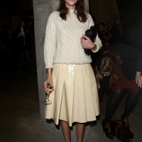 Alexa Chung's White-on-White is Just Right
