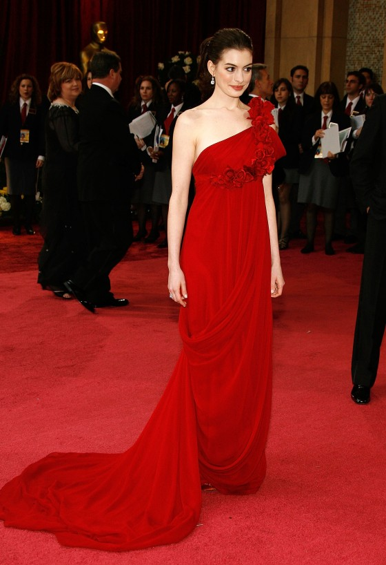 Anne Hathaway in Marchesa in 2008
