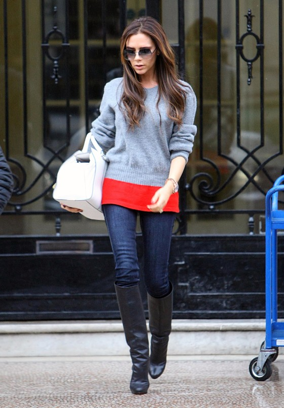 Exclusive... Victoria Beckham Steps Out In London