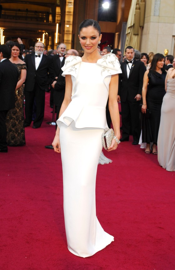 Georgina Chapman in her own design in 2012