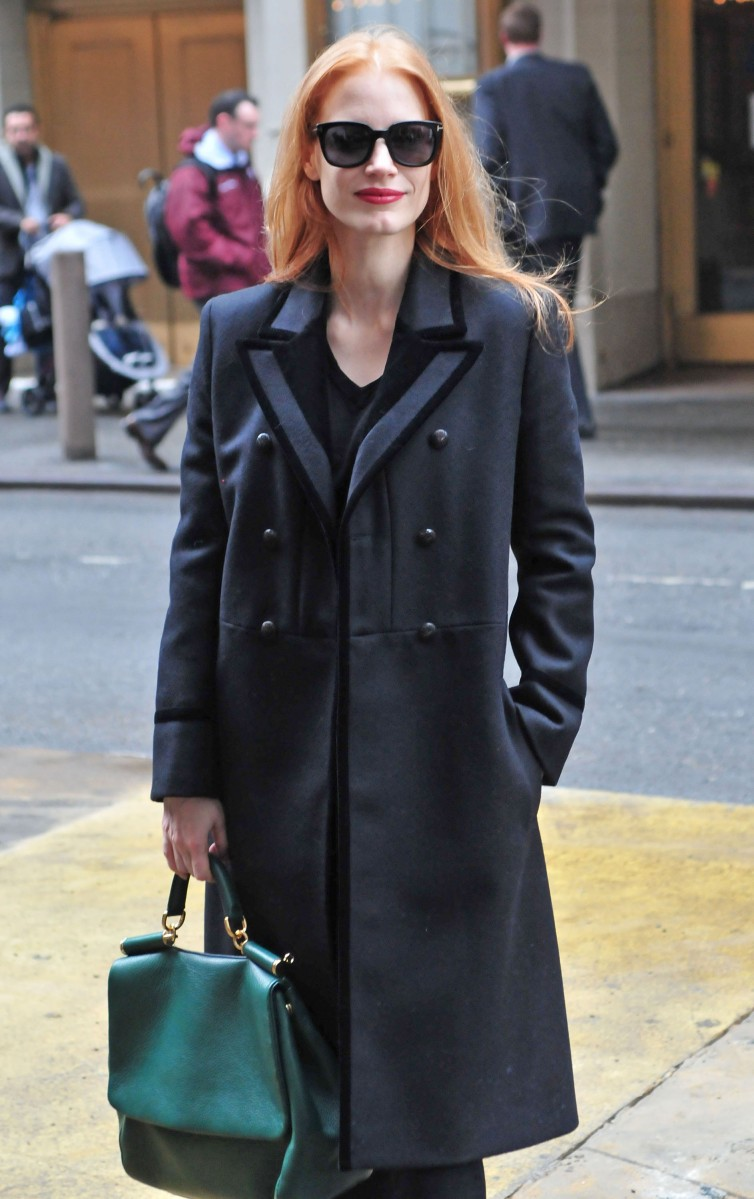 Jessica Chastain Has the Best Winter Wardrobe