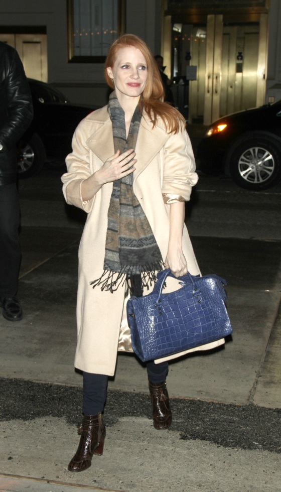 Jessica Chastain Arriving At The Walter Kerr Theatre