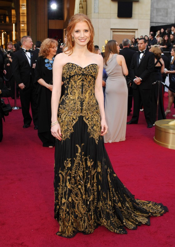 Georgina Chapman in Alexander McQueen in 2012