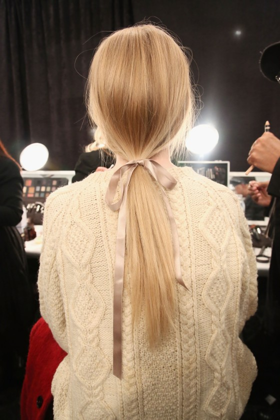 TRESemme At Jenny Packham - Backstage - Fall 2013 Mercedes-Benz Fashion Week