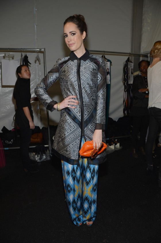 Bibhu Mohapatra - Backstage - Fall 2013 Mercedes-Benz Fashion Week