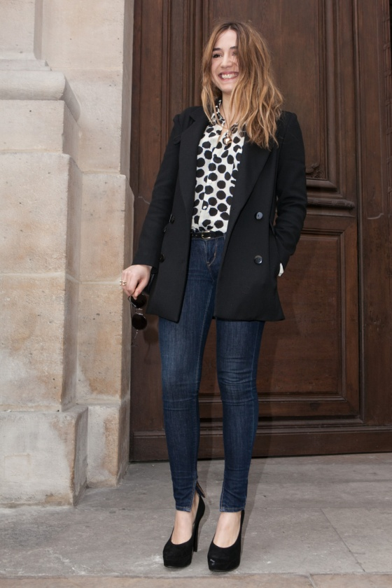 Izia Higelin attends Jean-Charles de Castelbajac Fashion Show at the Paris Fashion Week
