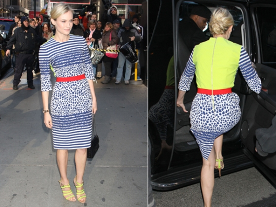 diane-kruger-blue-neon-dress