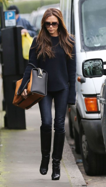 Victoria Beckham Steps Out In London