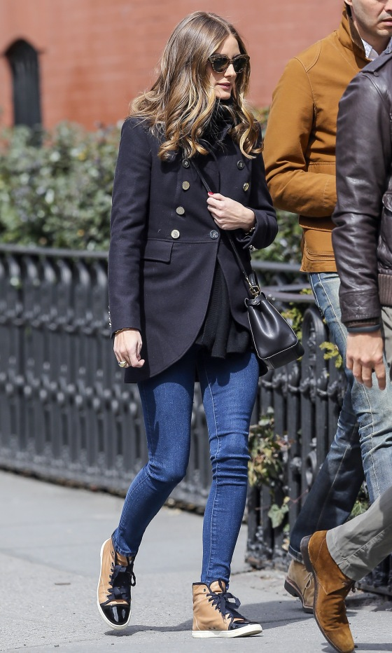 Olivia Palermo and Her Boyfriend Shop in New York