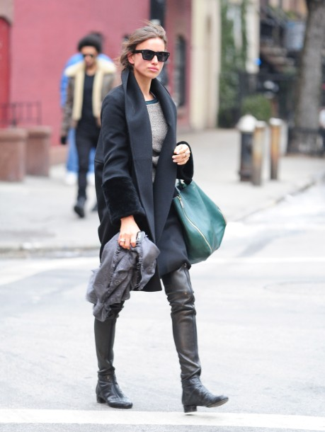Irina Shayk Takes A Stroll Through The West Village