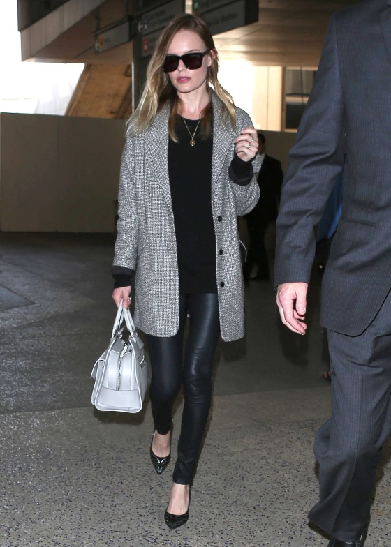 Kate Bosworth Arriving On A Flight At LAX