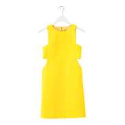 Yellow Cutout Dress, $150