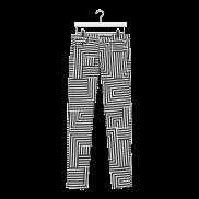 Zigzag print jeans, $120