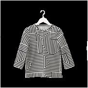 Zigzag blouse, $90