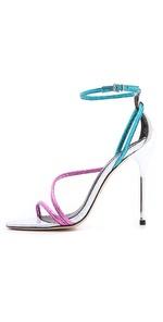 Brian Atwood futuristic sandals