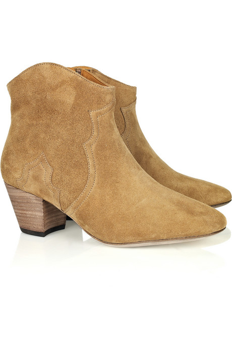 Currently Craving: Isabel Marant Tan Ankle Boots