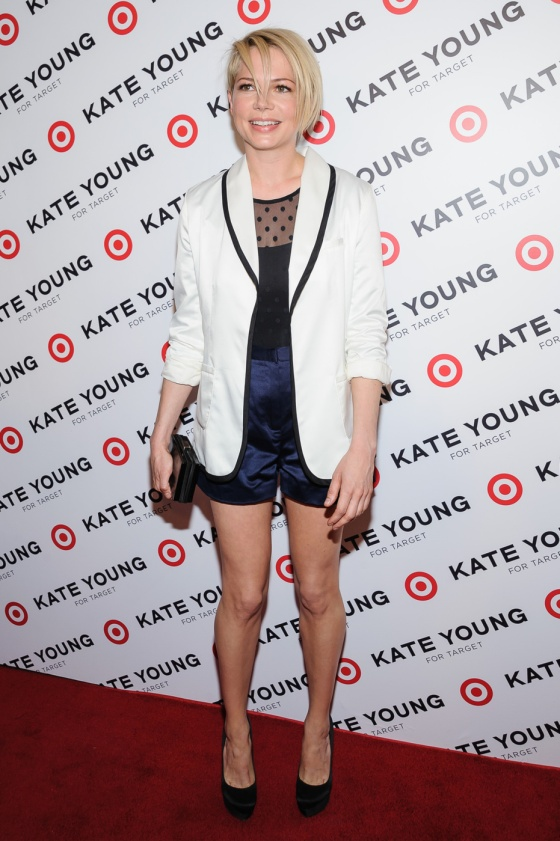 Michelle Williams attends the Kate Young For Target Launch at The Old School in New York City