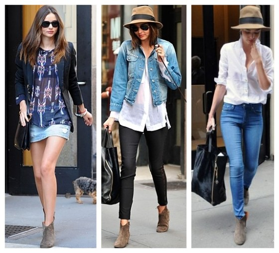 Miranda Kerr in Isabel Marant booties